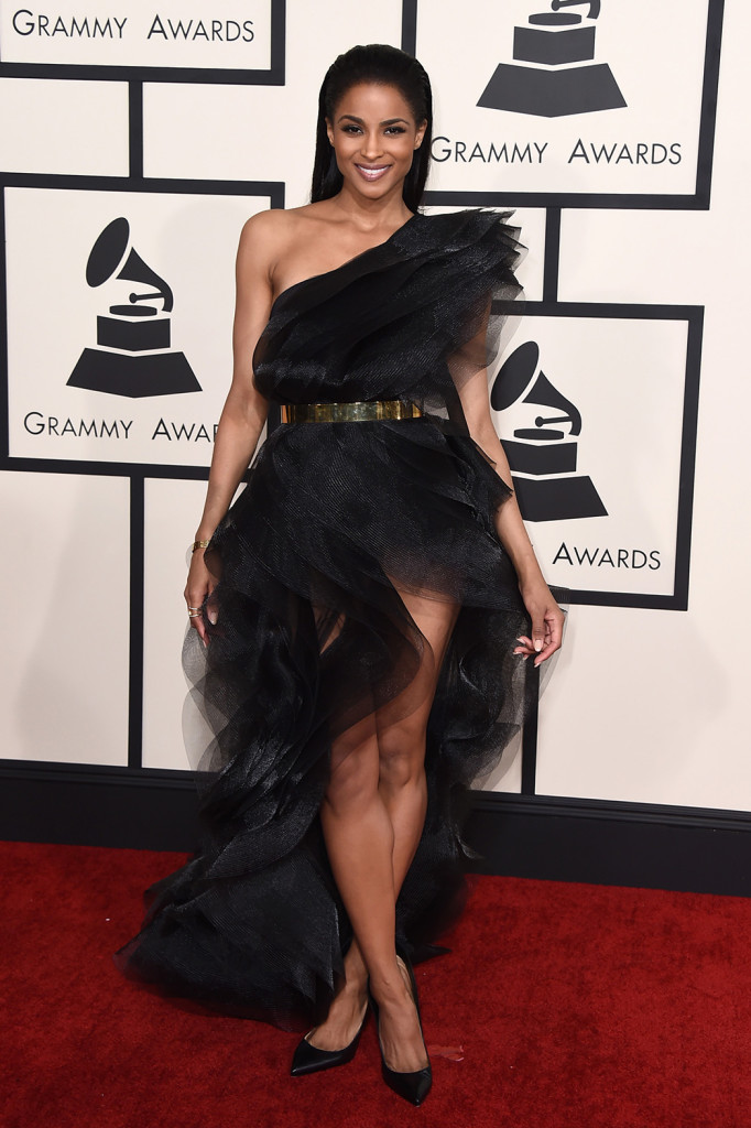 Ciara at Grammy's 2015