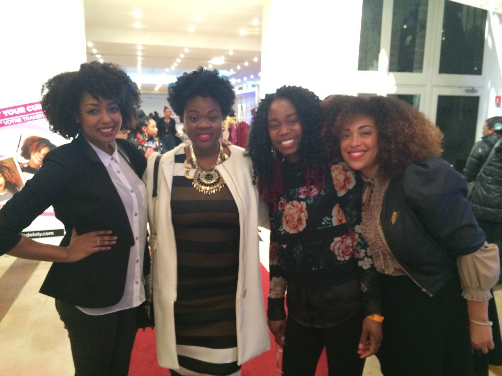 Posing with Rochelle (founder Alikay Naturals), Megisa and Angela at NHA Paris 2015